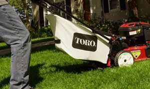 Walk-behind mowers with a bagging option are great when it is necessary to keep clippings from areas such as pools and outdoor kitchens.