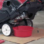 how to change oil in yardworks snowblower
