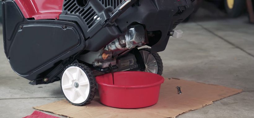 How to Change Engine Oil on a Single Stage Snowblower