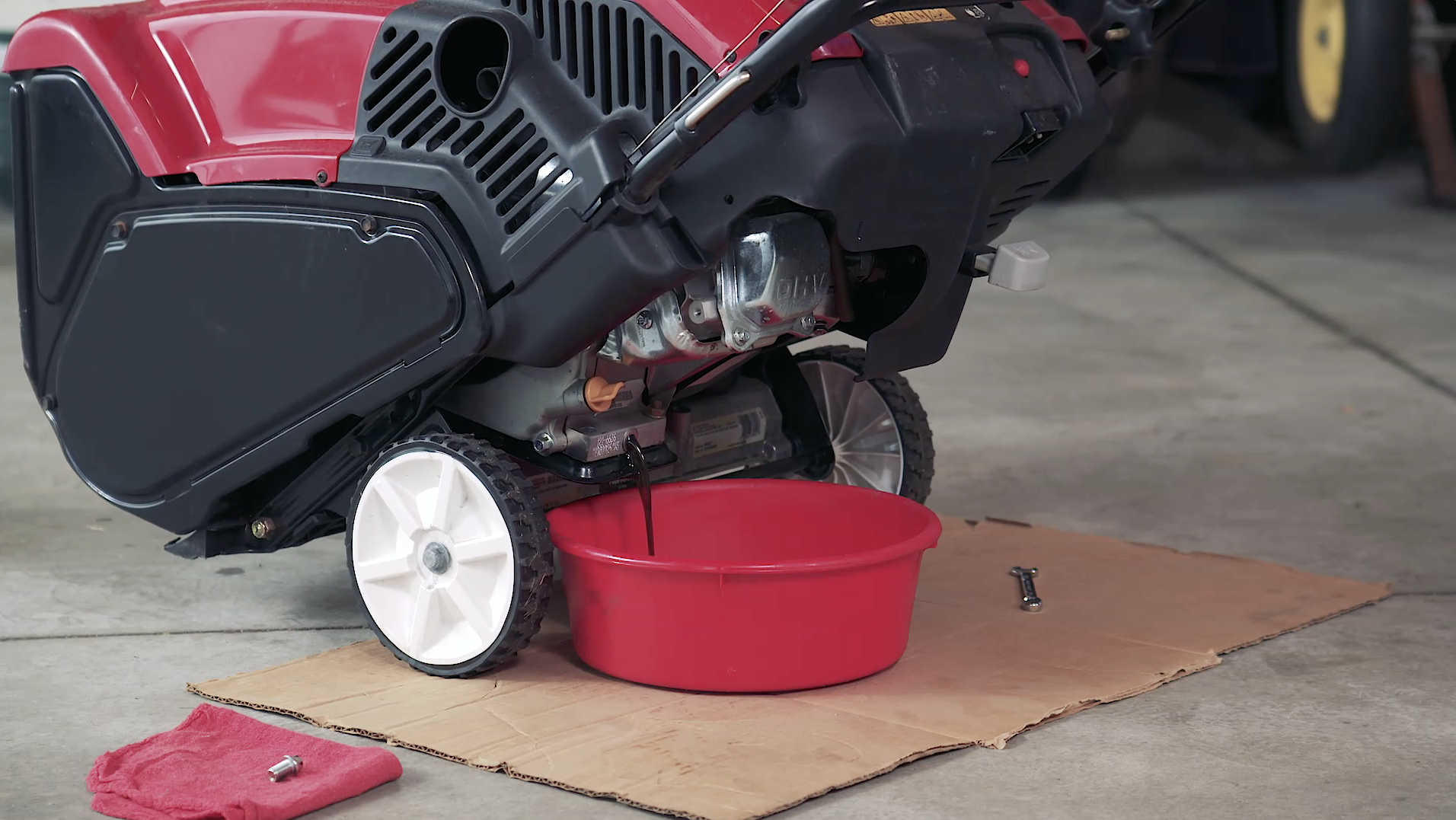 How to Change Engine Oil on a Single-Stage Snowblower | Yard