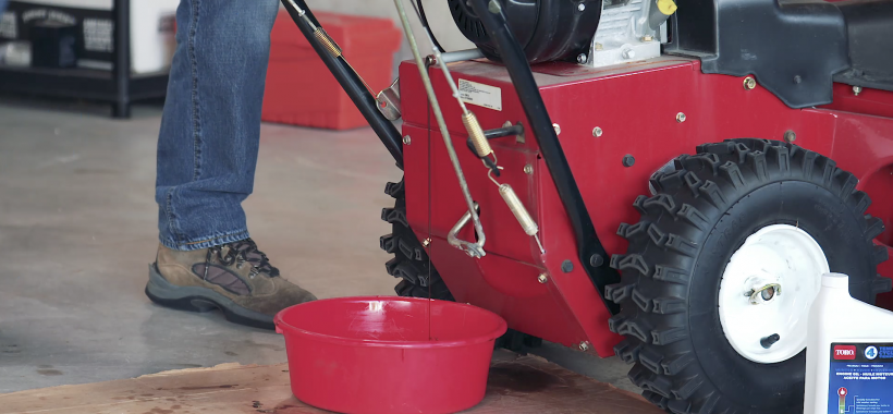 How to Change Engine Oil on a Two-Stage Snowblower