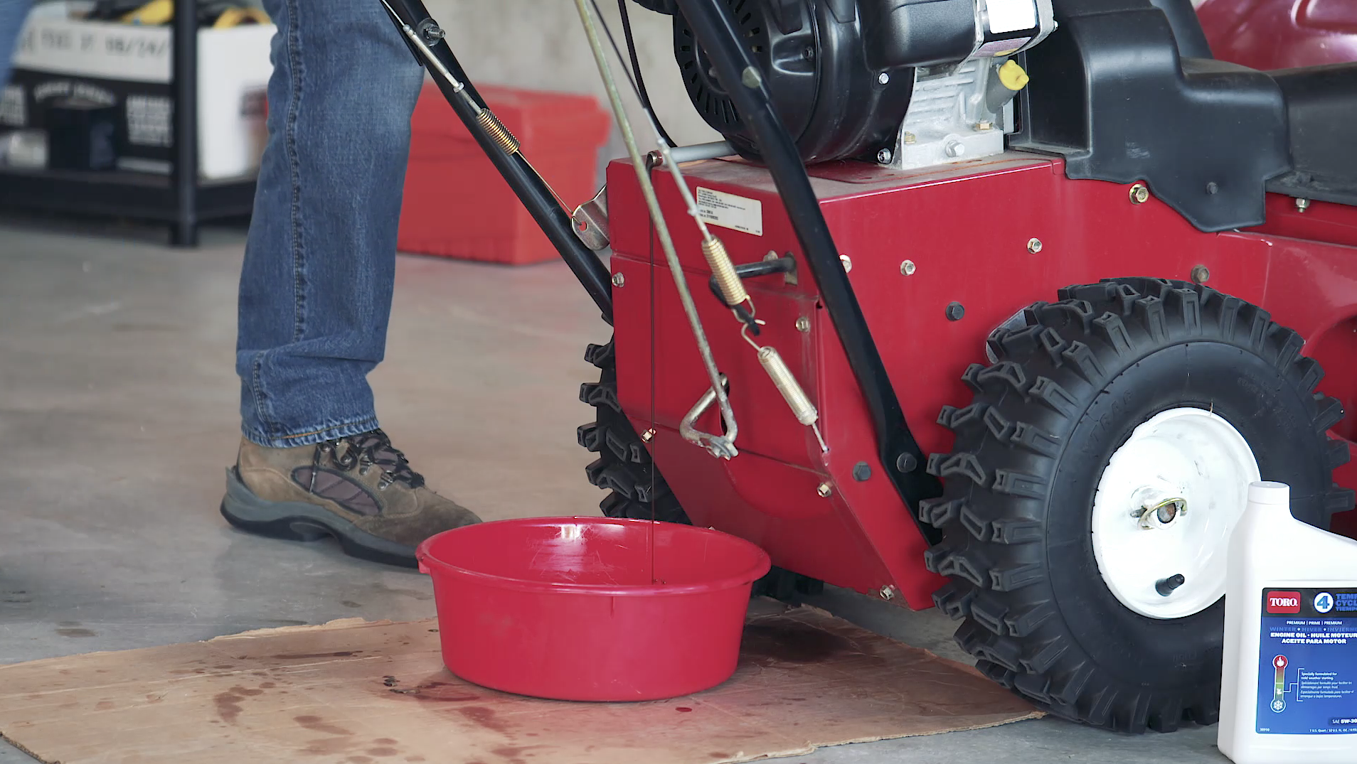 How to Change Engine Oil on a Two-Stage Snowblower | Yard Care Blog